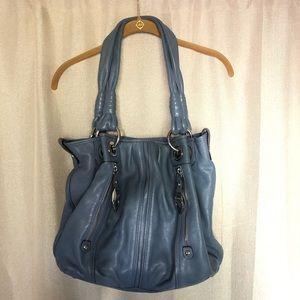 Blue Bag w/Cheetah Lining and Wallet